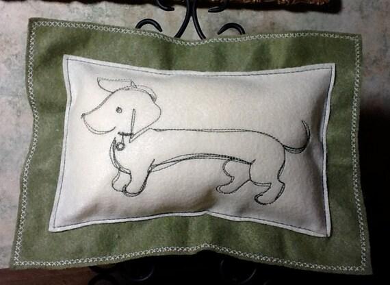 Dachshund Wiener Dog Throw Pillow