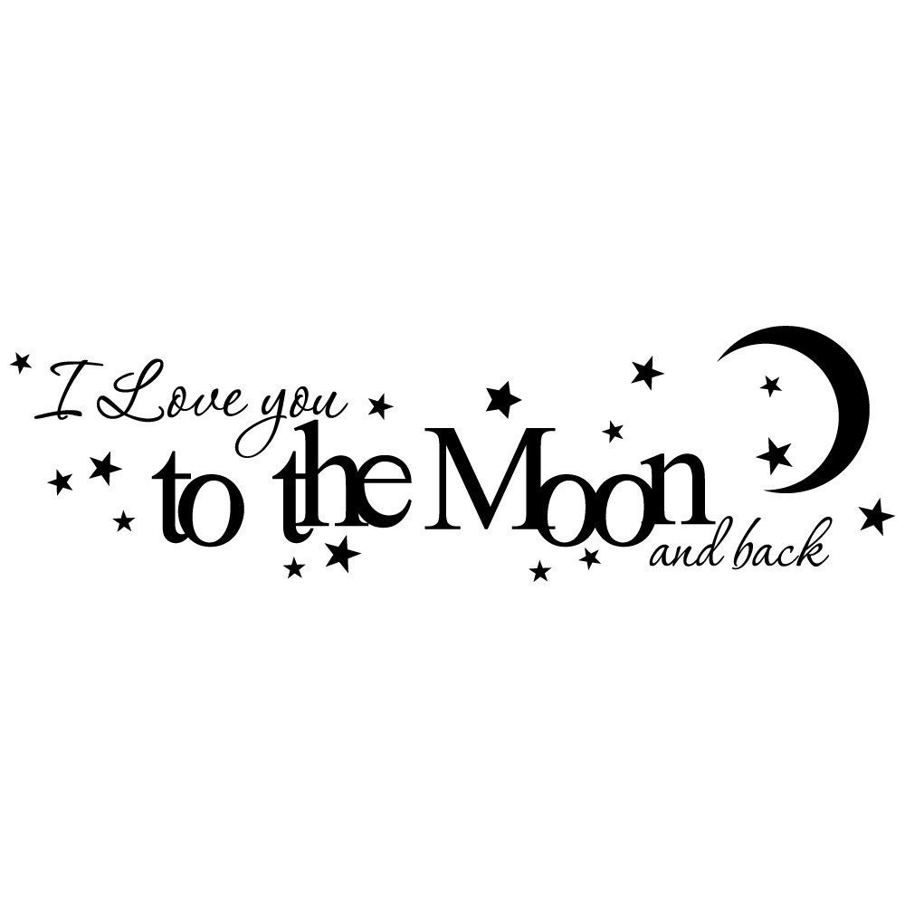 i love you to the moon and back vinyl wall by. Black Bedroom Furniture Sets. Home Design Ideas