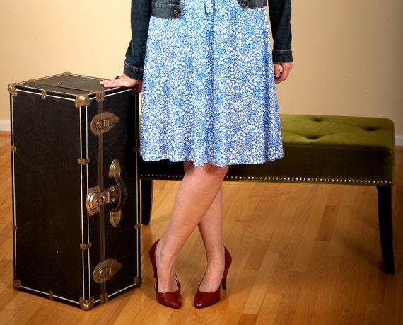 Soft Blue Lace dress-  lace- large- xl- plus size