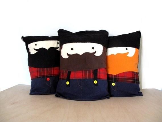 Slumber Jack Jr- The Lumber Jack- plush- boyfriend-- pillow- toy-Pet Bed- beard