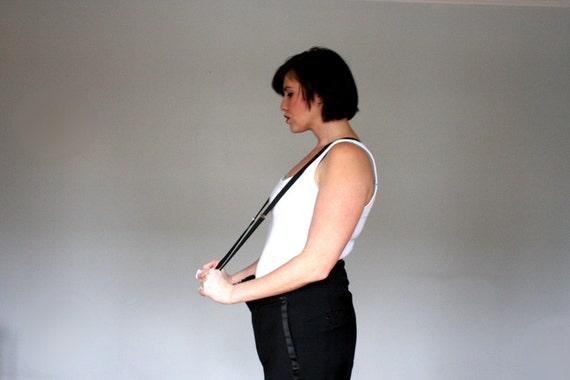Vintage Black Suspenders- Mens-Womans-  Size med/ large- Sale