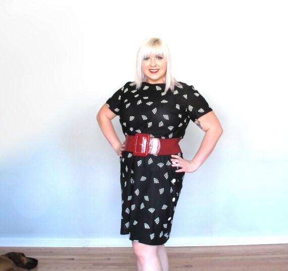 Im your Fan -Plus size Dress- Vintage-xxl- black and white- shift dress
