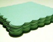 Mint Green scallop square 2.75 inches set of 75