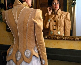 HUGE SALE! Buy Embellished Sport Jacket, One of a Kind Art Jacket from the White Peacock Collection