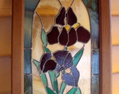 OOAK by the late Carol Fennimore stained glass artist stain glass framed panel 1960 Free shipping