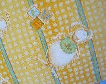 Handmade Pillow Baby Hand Embroidered Rabbits