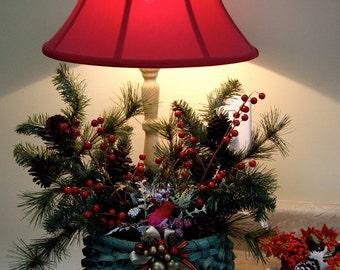 Handmade Christmas Basket curley reed wall hanging