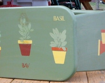 Handmade and painted  OOAK Garden Patio Bench with matching recycled wood sign