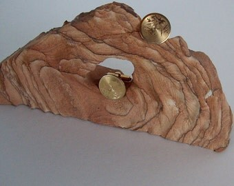 Desert Rose Cuff Links 1950s