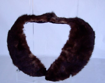 Vintage Mink Collar Long