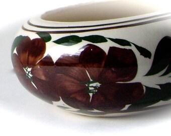 Vintage Planter Handmade Round Handpainted Pot 1950