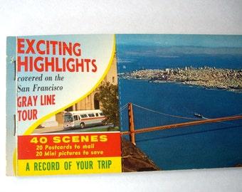 Rare Vintage / Postcard / Booklet / San Francisco / Gray Line Tours /1957 / no charge shipping U.S.