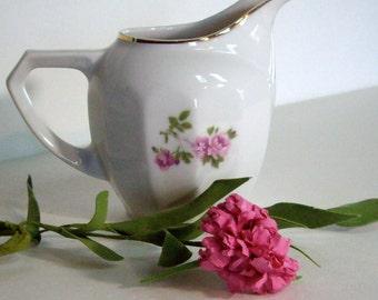 Vintage Floral Handpainted German Creamer   1950