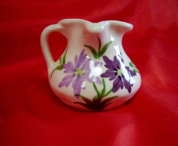 Vintage Cash Family Pottery Hand Painted Pitcher   Inches