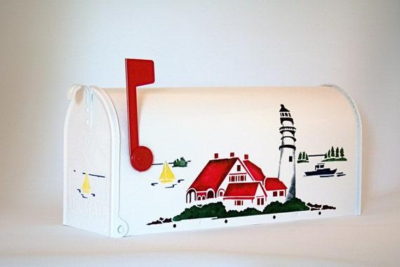 USA  Lighthouse Mail Box