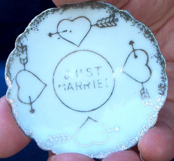 Bride Wedding Miniature  Just Married Teacups  COOL