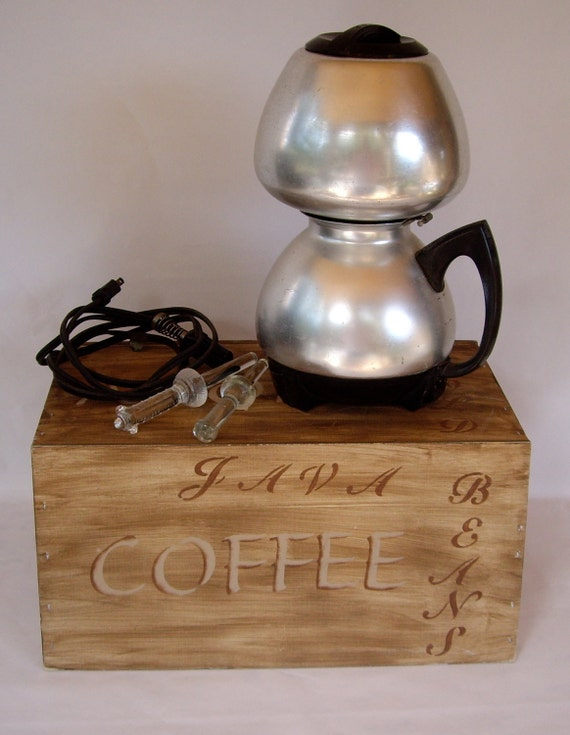 Vintage Cory Coffee Pot electric drip retro kitsch 1950