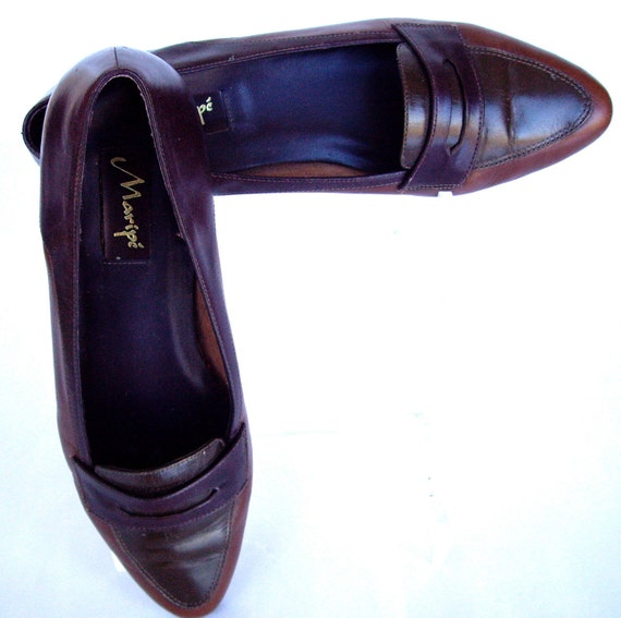 Vintage Shoes Brazilian Leather Womens Loafer  1989