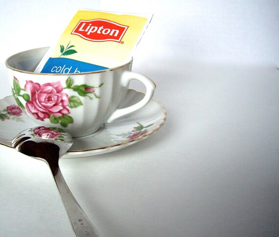 Vintage Japan Floral Tea Cup 1950s