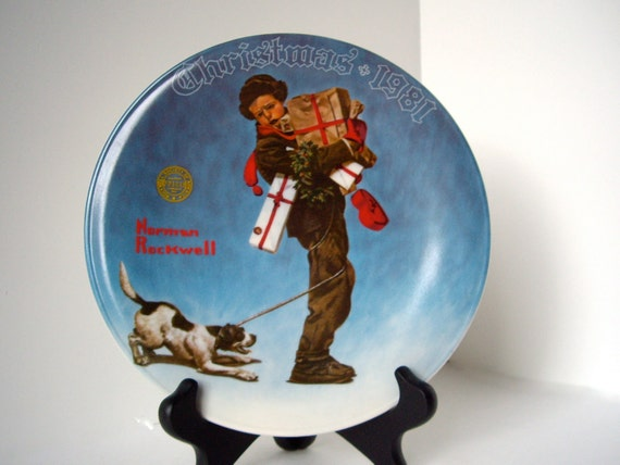 Vintage Norman Rockwell Christmas Plate 1981