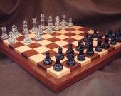 Chessboard- Handcrafted Bird's Eye Maple & Sapele Hardwood