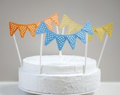 Cake topper bunting set of three custom colors