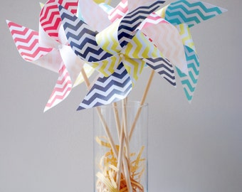 Chevron Pinwheels 5 Large pinwheels