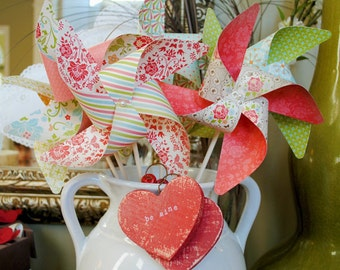Love Spell pinwheels love and romance set of 6 Large Pinwheels