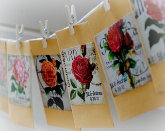Flower seed favors 50 wildflower mix custom