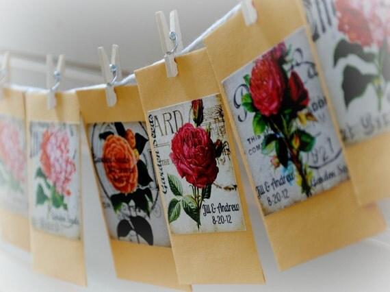 Flower seed favors 50 wildflower mix custom