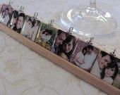 CUSTOM made ENGAGEMENT WEDDING Reversible Scrabble Wine Charm Set