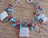 CHRISTIAN JOY Reversible Scrabble Tile Charm Bracelet