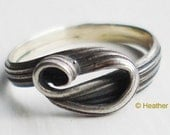 Mitsuro Ring - Recycled Silver - Women's size 5 - Wrapped in a Wave