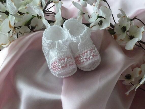 Hand Crocheted Sandal Baby Girl Booties