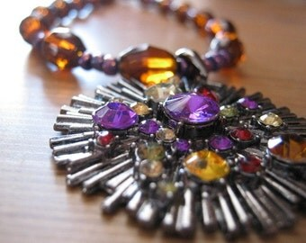 Necklace with Starburst Pendant