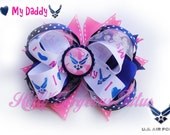 "USAF Bow/ Air Force Bow "" I love my daddy"""