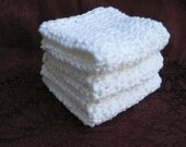 Eco friendly crisp white crocheted dish cloths set of 3