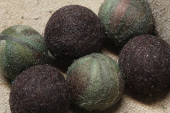 Wool Dryer Balls - Forest - Set of Six