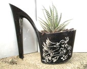 Swallow Tattoo- Stiletto Planter & Zebra Plant