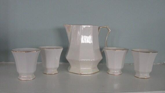 On Sale Vintage Independence stoneware  by Castleton made  in Japan Tea Set