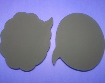 2 chalkboard Photo booth props cloud and oval speech bubbles double sided wedding  chalk board