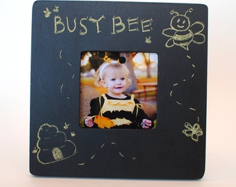 Gifts under 10 Chalk Board Photo Frame- Great Gift for Boys, Girls, Pre-teens, Teens, and Kids of ALL ages (freestanding, comes with chalk)