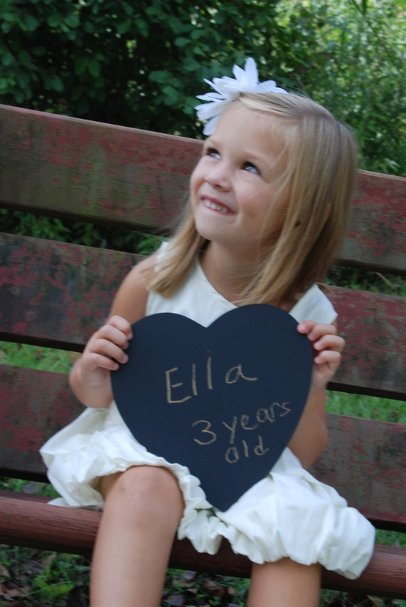 Large Chalkboard Heart Sign- Photography Prop for Engagement, Wedding, Save the Date, Thank You, Etc. Ready to Ship