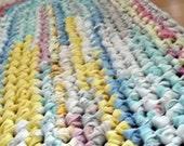 Crochet Rag Rug in Pastels