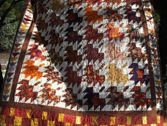 Falling Leaves Full Size Bed Quilt