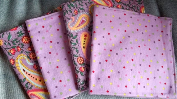 Double Sided Cloth  Lavender Napkins