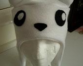 Cute POLAR BEAR white winter hat (CHILD size)