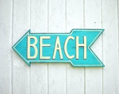 Wooden beach sign - lake sign - turquoise - shabby chic  signs