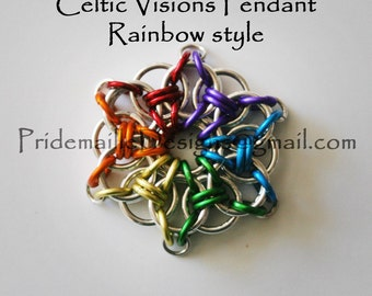 Gay Pride Celtic Visions Pendant Necklace