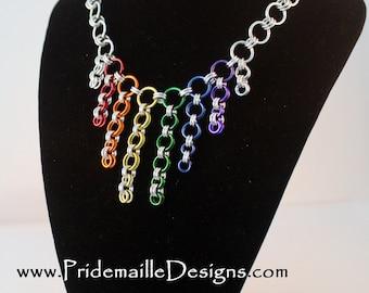 Cascade Necklace - Rainbow